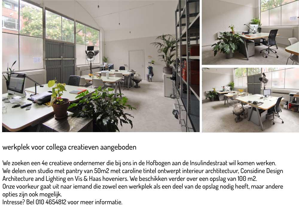 werkplek Hofbogen Rotterdam