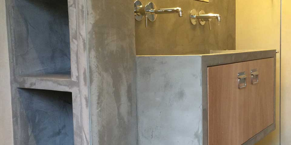 betonlook badkamer | caroline tintel ontwerpt